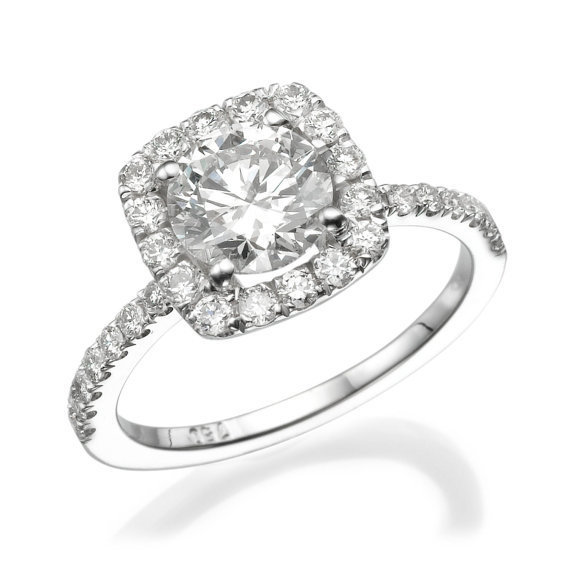 No. 8 Love In Infinity Engagement Diamond Ring in Platinum Ref.433 - No. 8 Collection