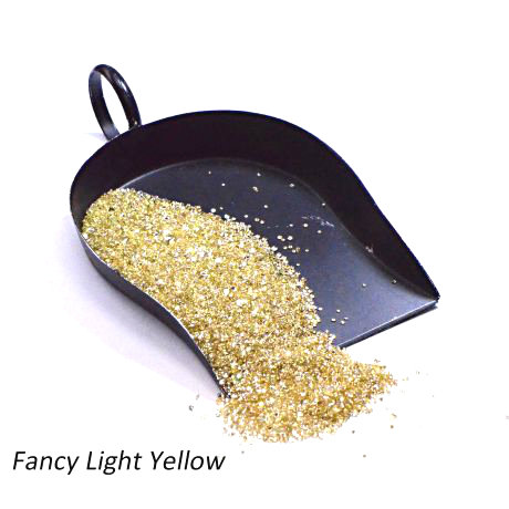 Excellent Fancy Light Yellow Melee Diamonds, Clarity SI