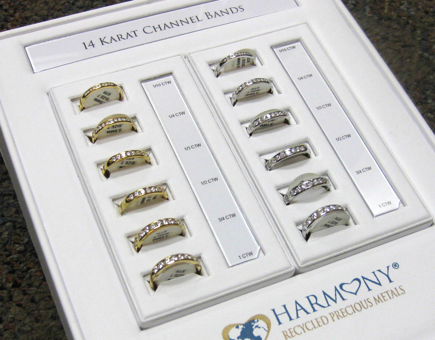 Channel Wedding Band Package 14K Gold Round Diamond- A&A Partner Best Deal