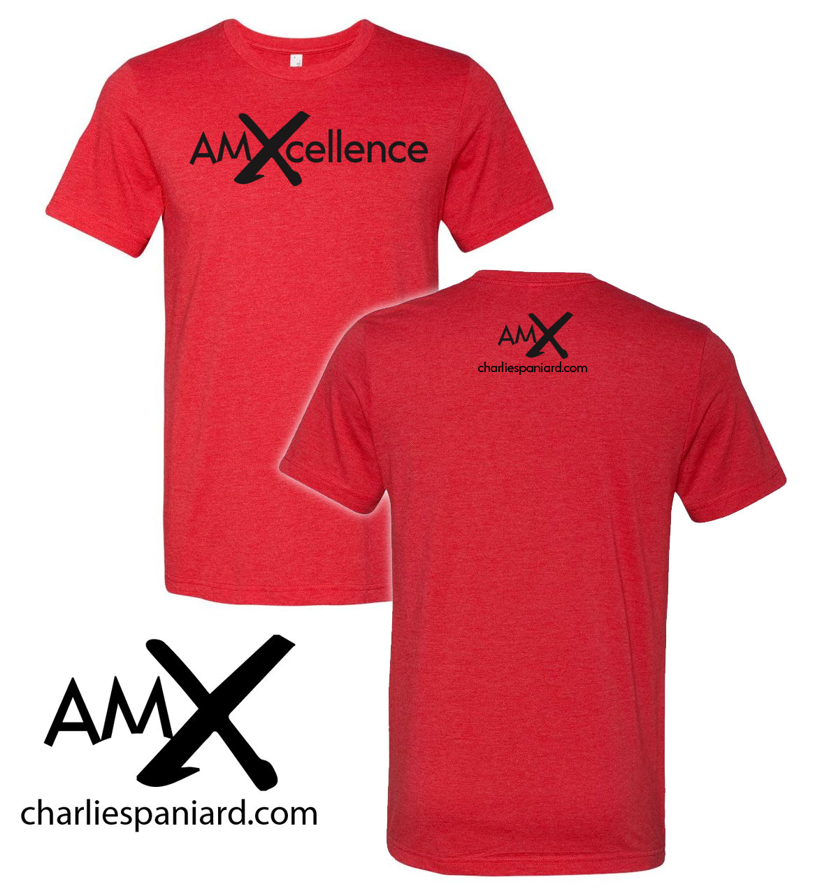 AM Excellence (AMX) Flagship T-shirt - Heather Red 01
