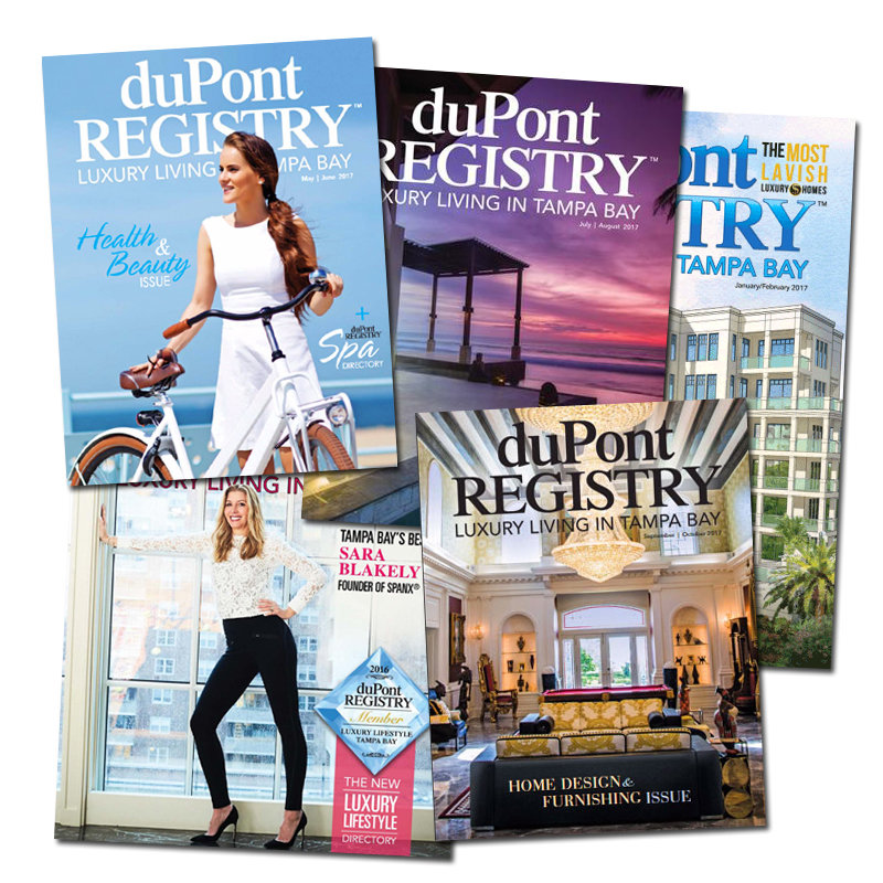 1 year subscription to duPont REGISTRY Luxury Living Tampa Bay 00000
