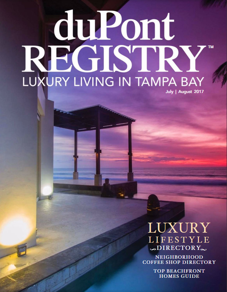 1 year subscription to duPont REGISTRY Luxury Living Tampa Bay