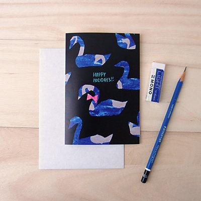 Swan Holiday Card 00004