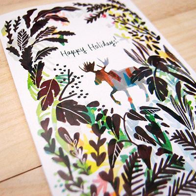 Moose Holiday Card