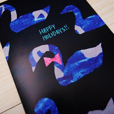 Swan Holiday Card