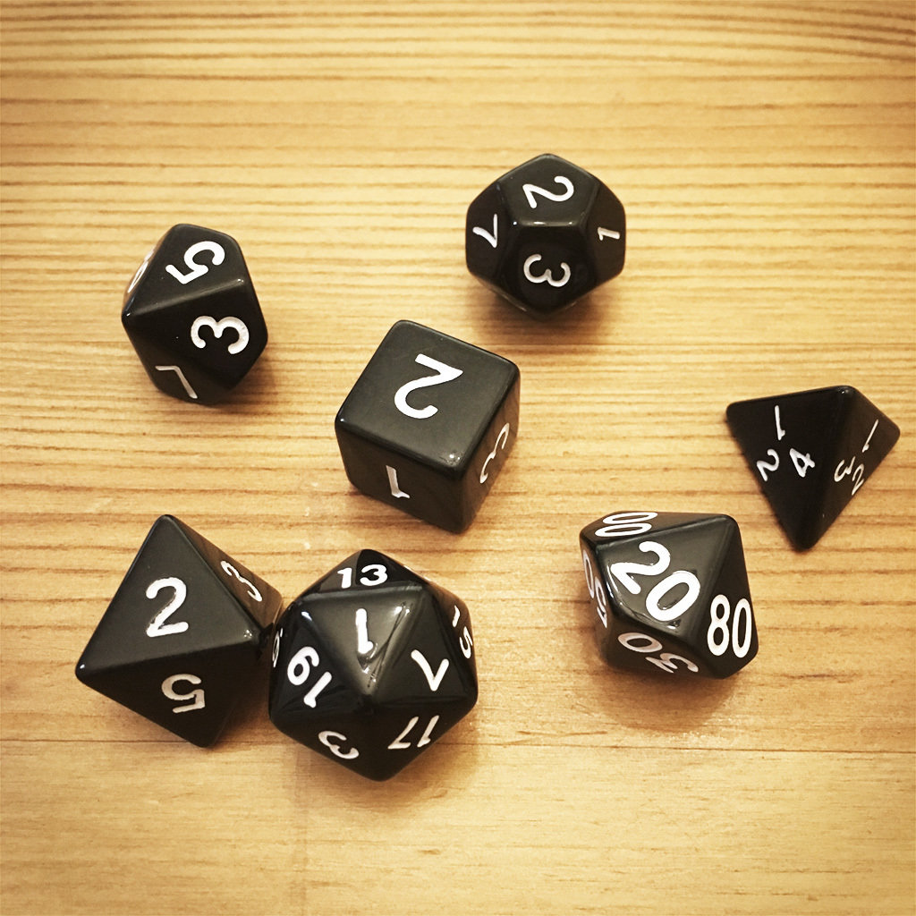 Dice Set - Black Die001