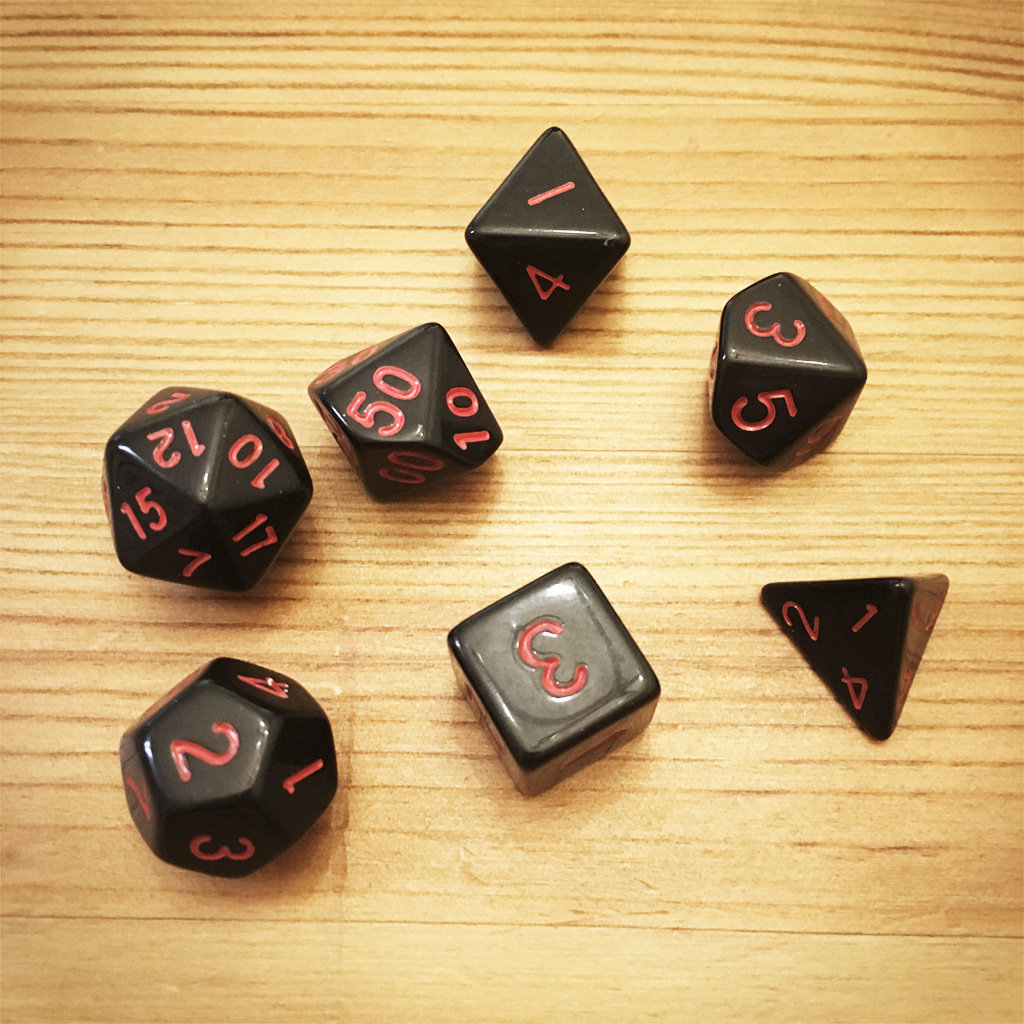 Dice Set - Black Die002