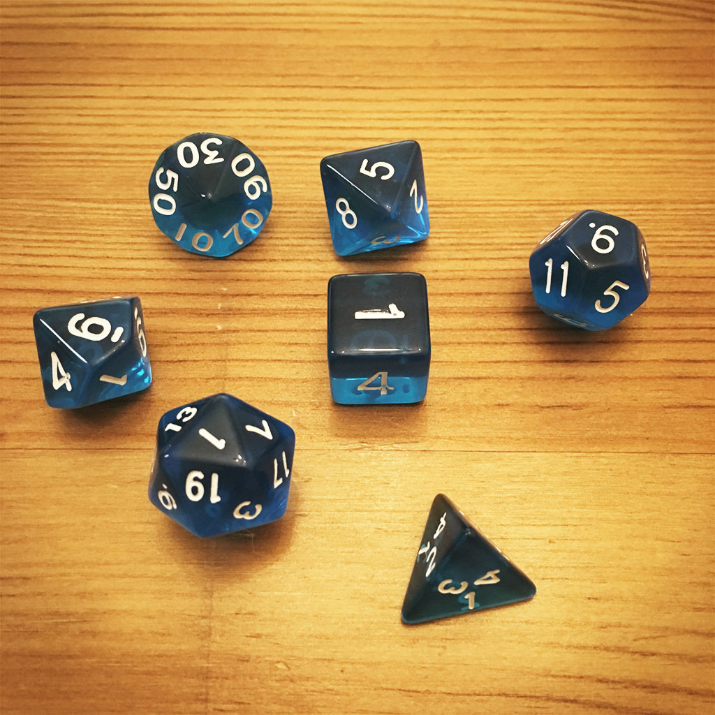 Dice Set - Blue Die005