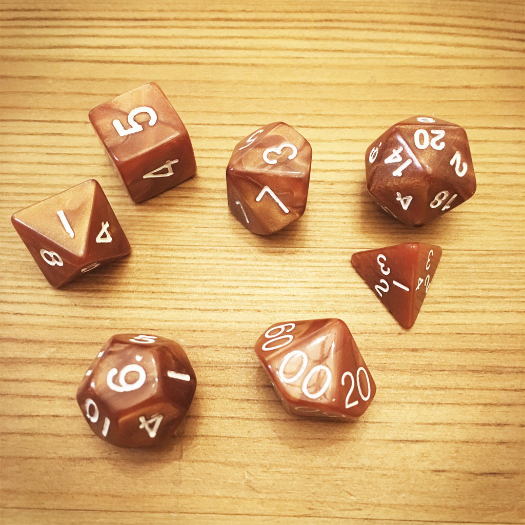 Dice Set - Brown Die006
