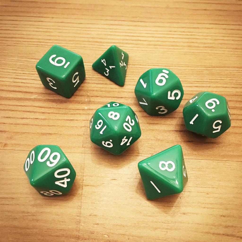 Dice Set - Green Die009