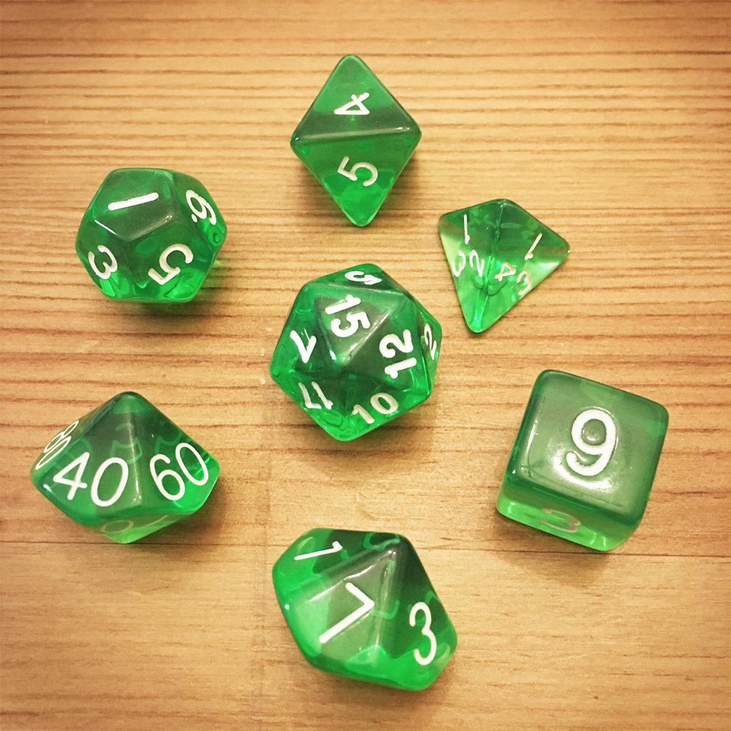 Dice Set - Green Die010