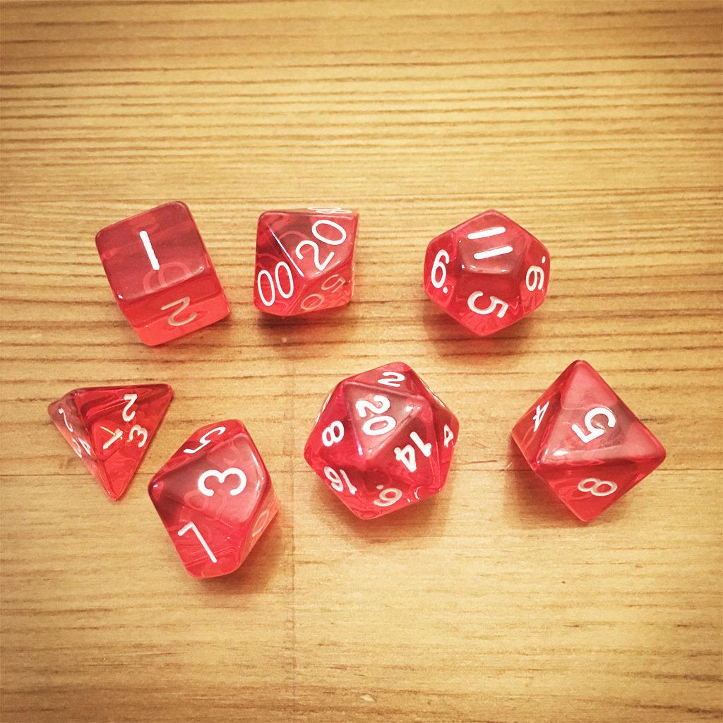 Dice Set - Red Die011