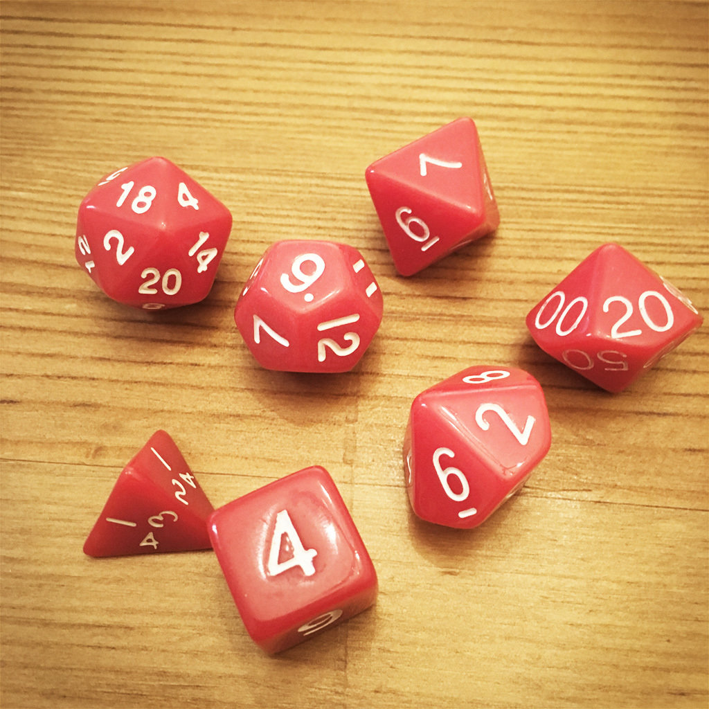 Dice Set - Red Die012