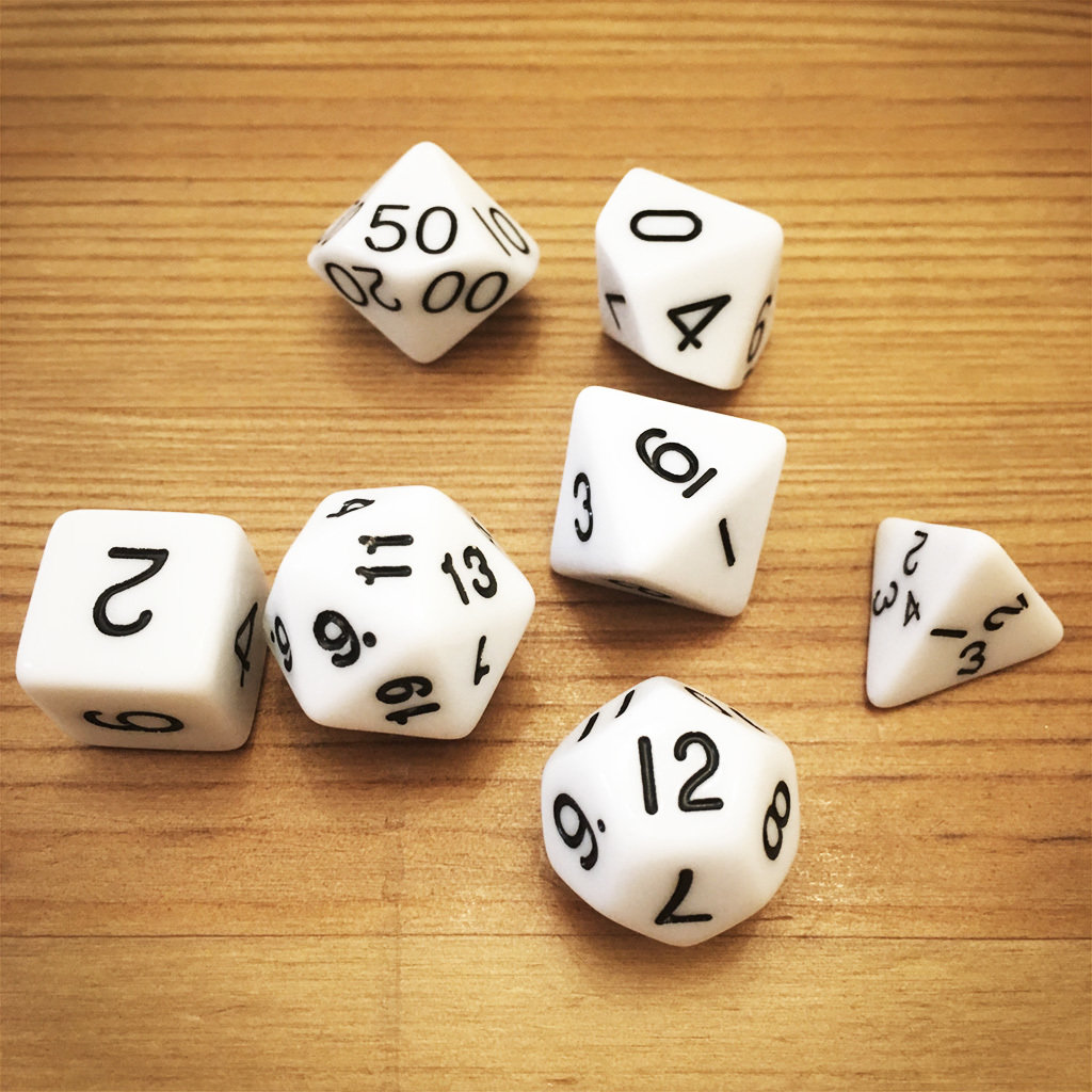 Dice Set - White Die015
