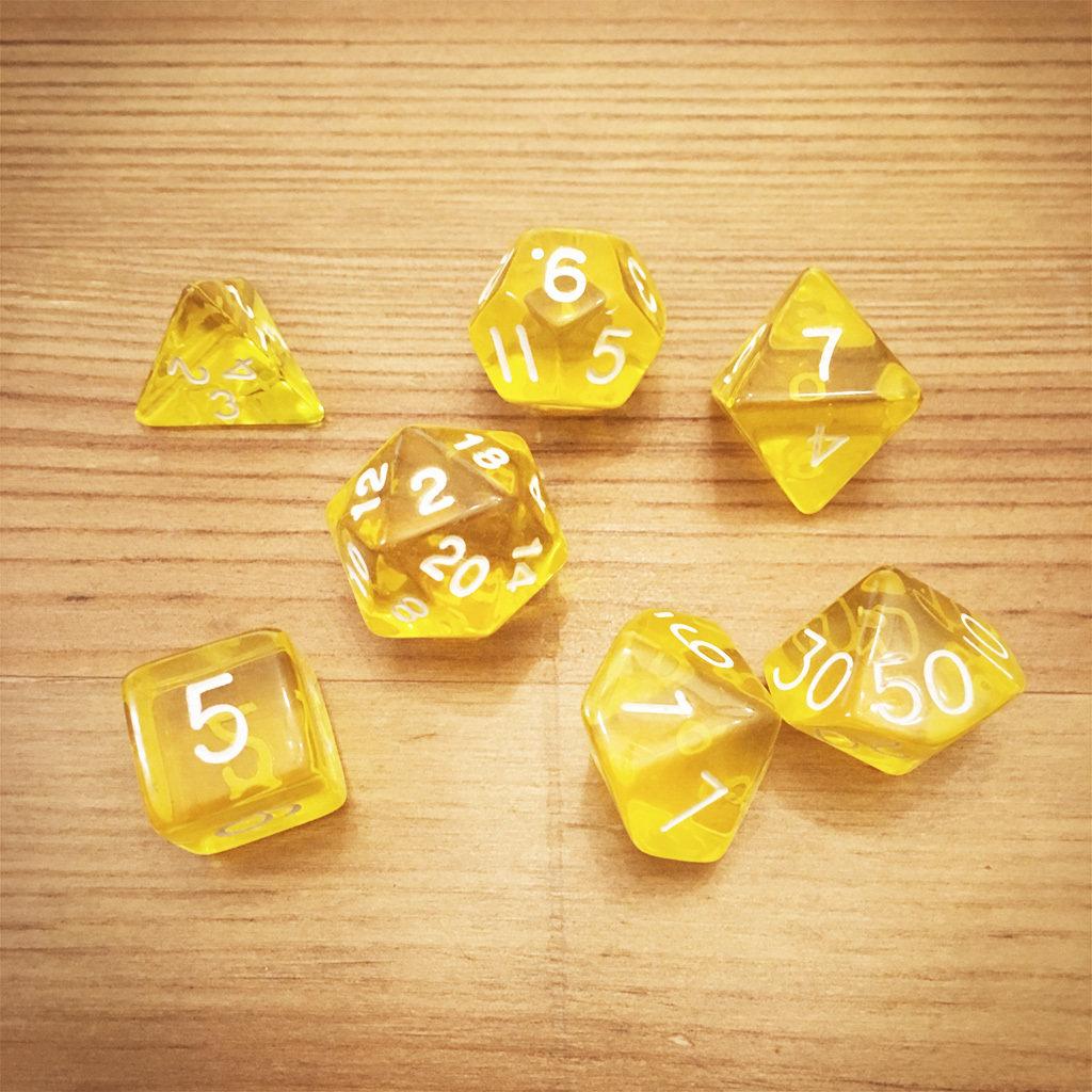 Dice Set - Yellow Die014