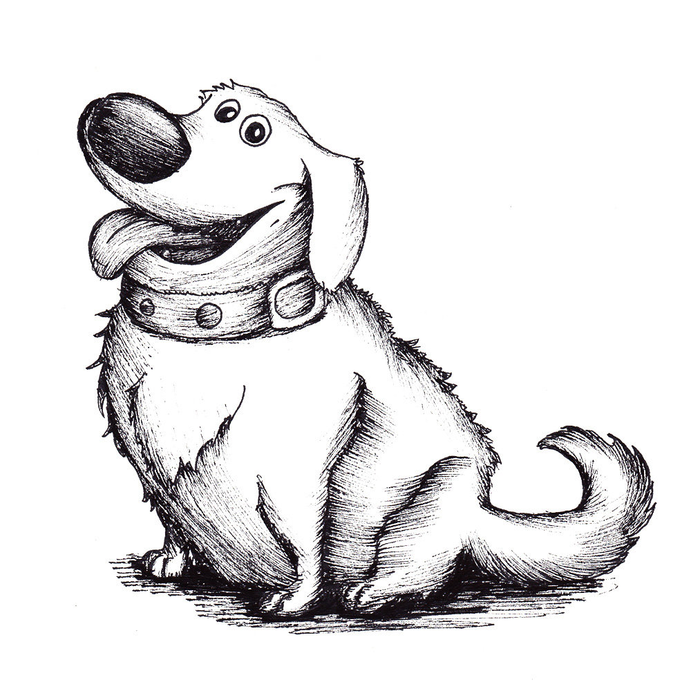 Dog drawing Draw009