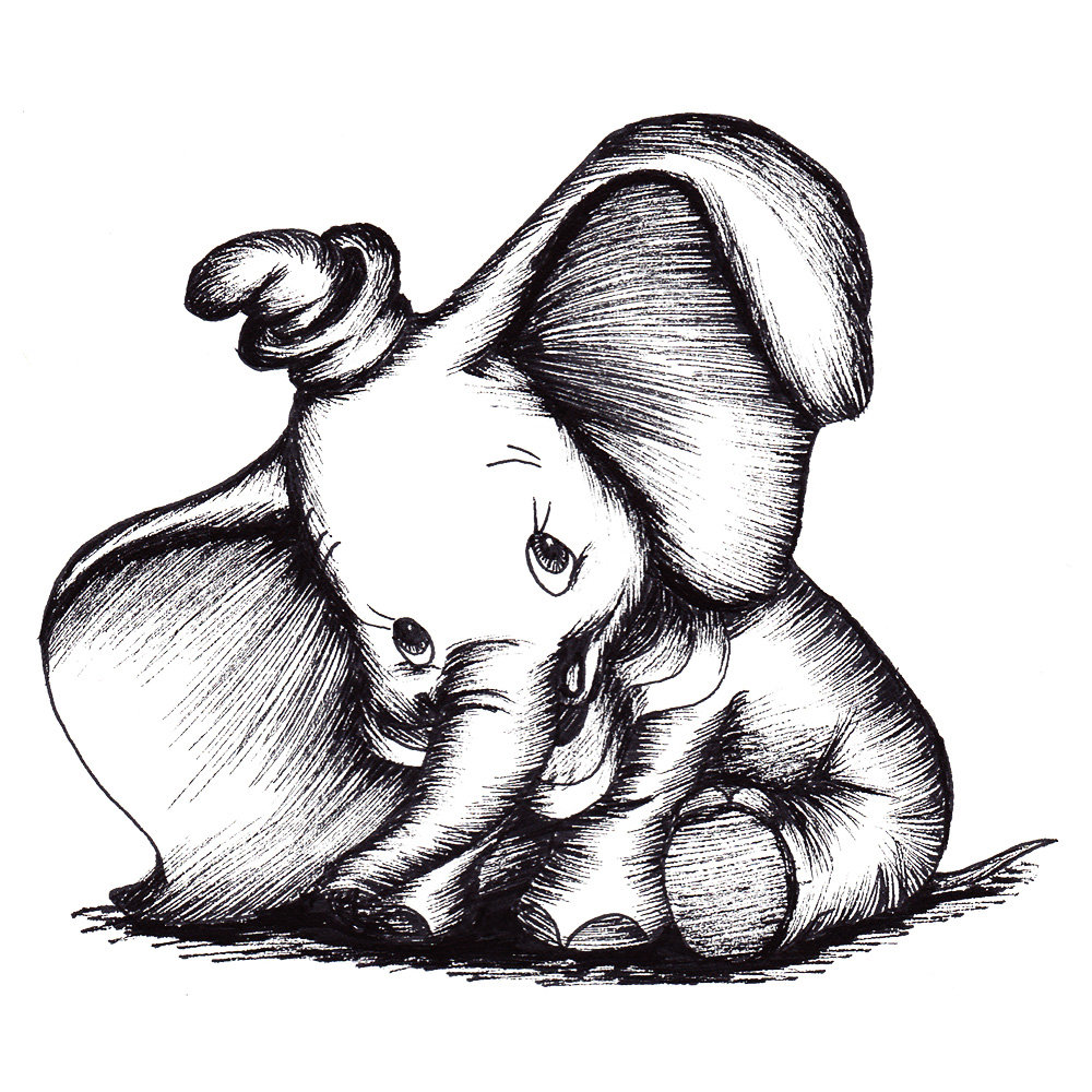 Elephant drawing Draw010