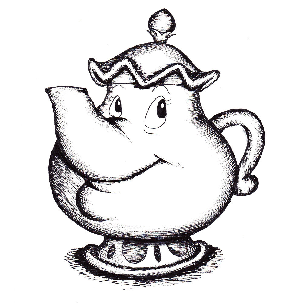 Teapot drawing Draw027