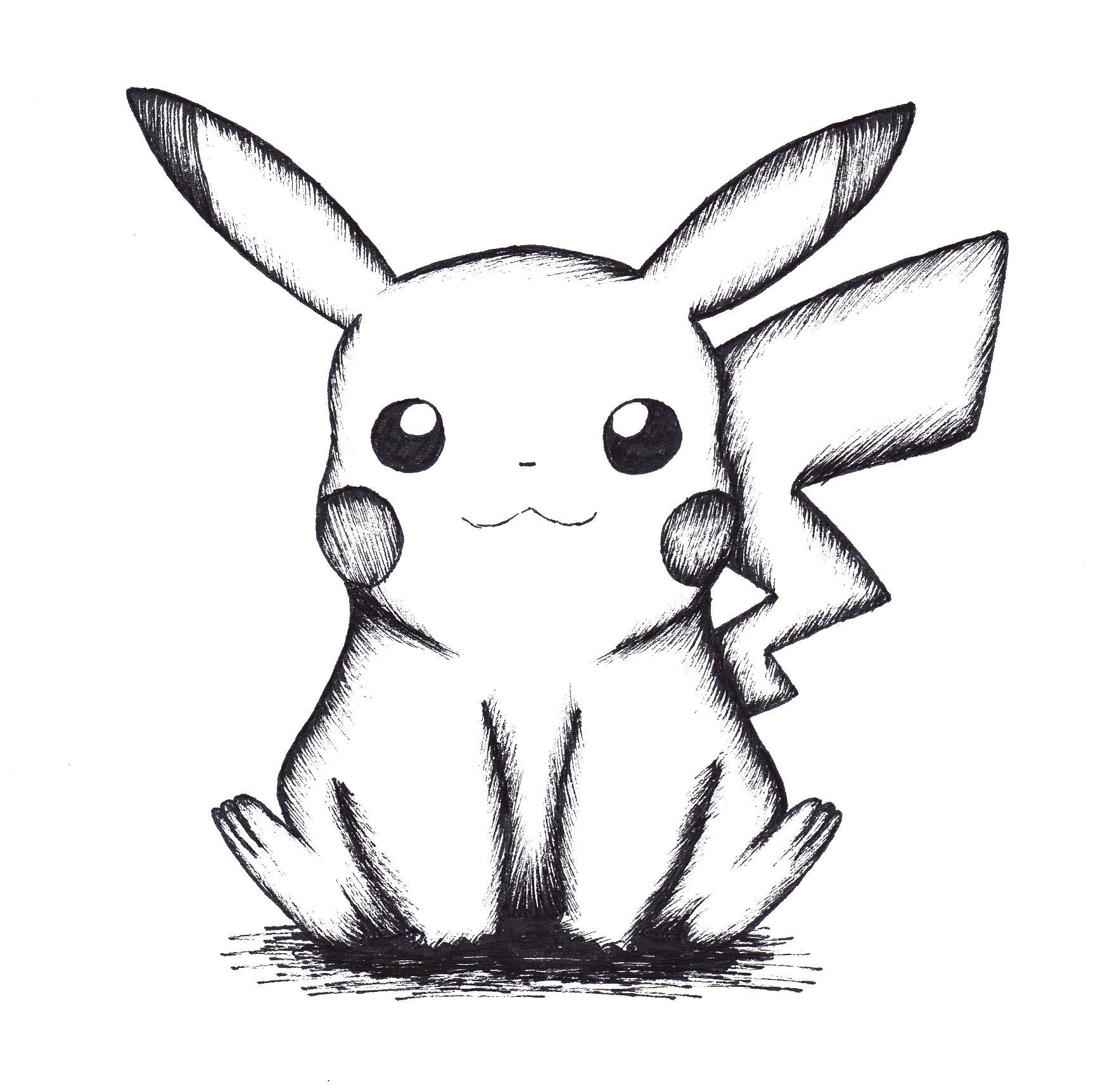 Pikachu drawing Draw031