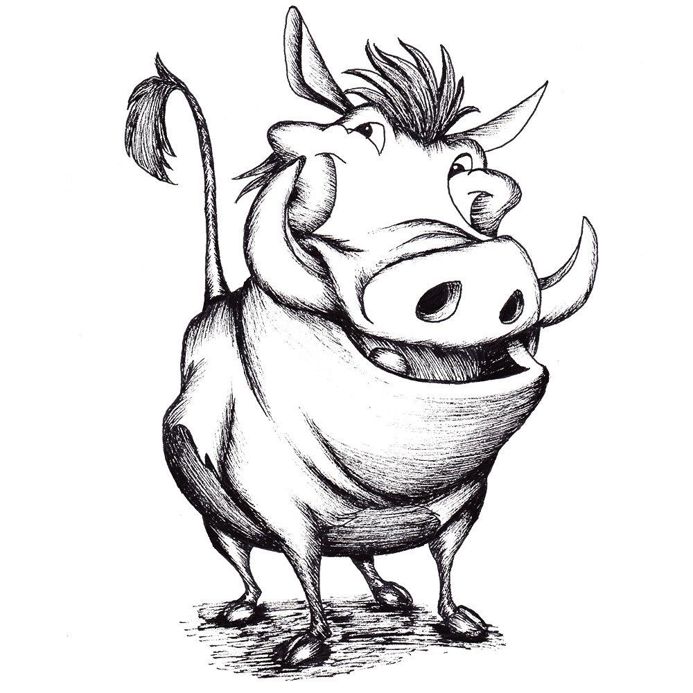 Warthog drawing Draw034