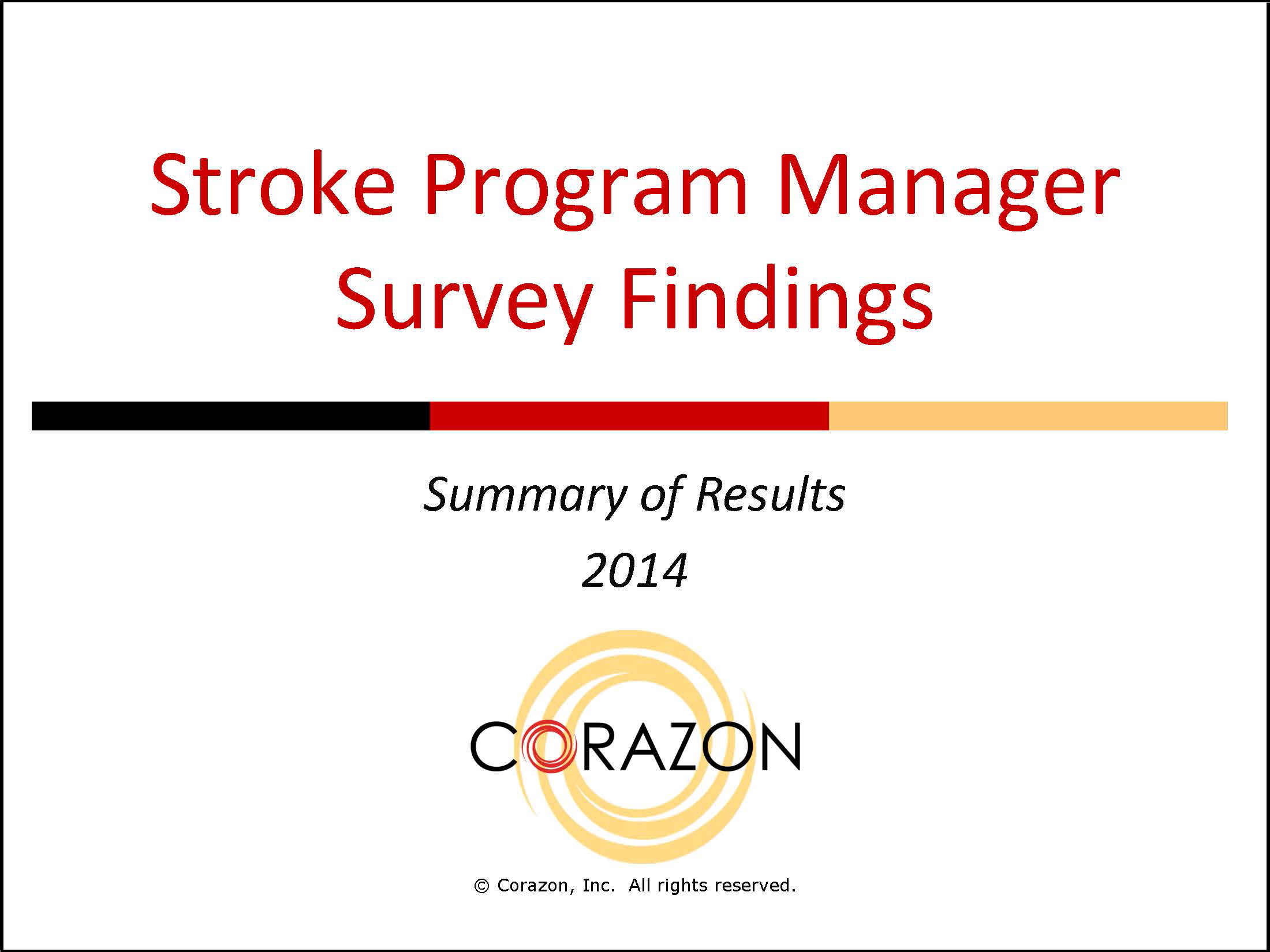 Stroke Program Manager Survey Findings 00044