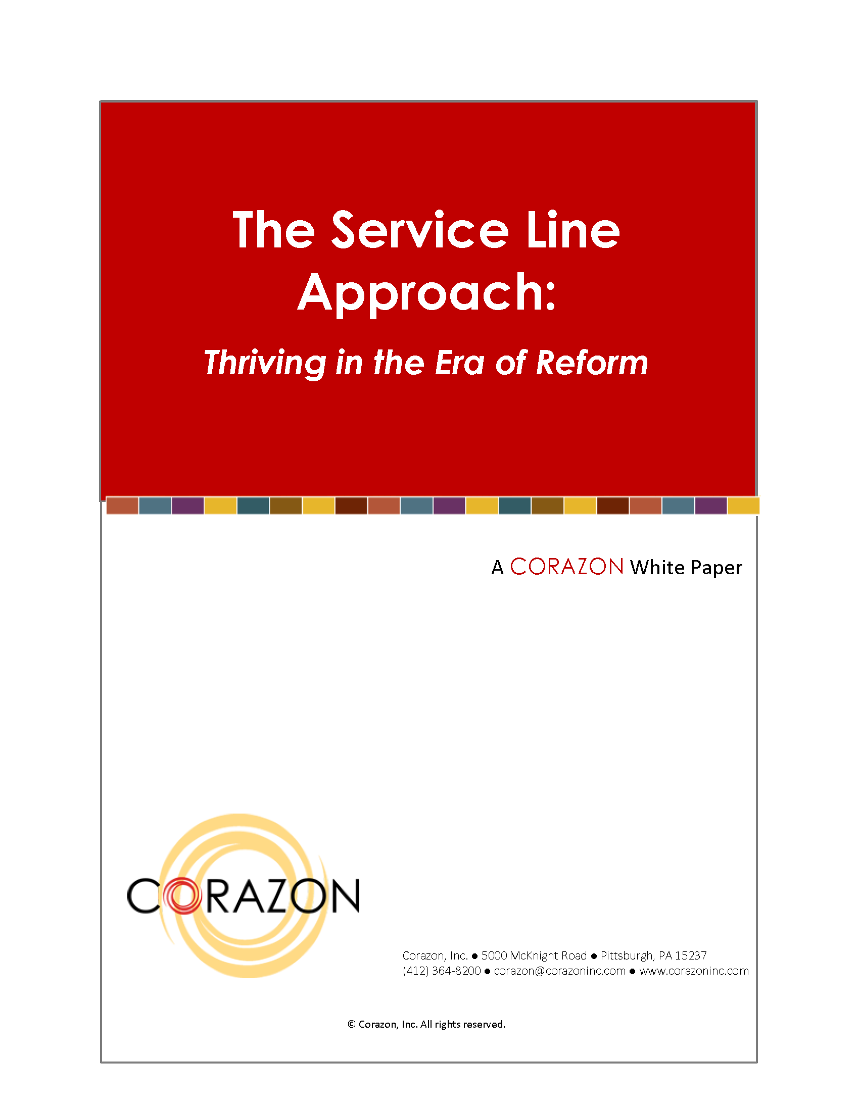 The Service Line Approach: Thriving in the Era of Reform 00057