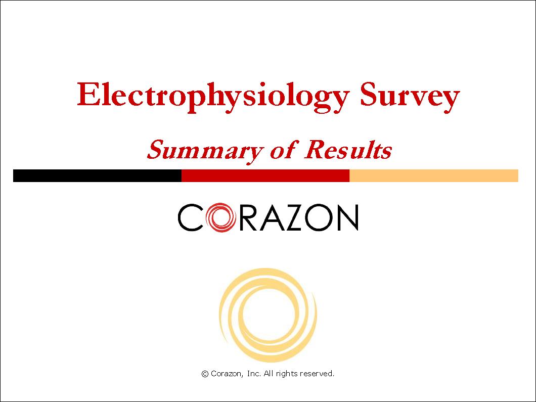Electrophysiology Survey Summary 00058