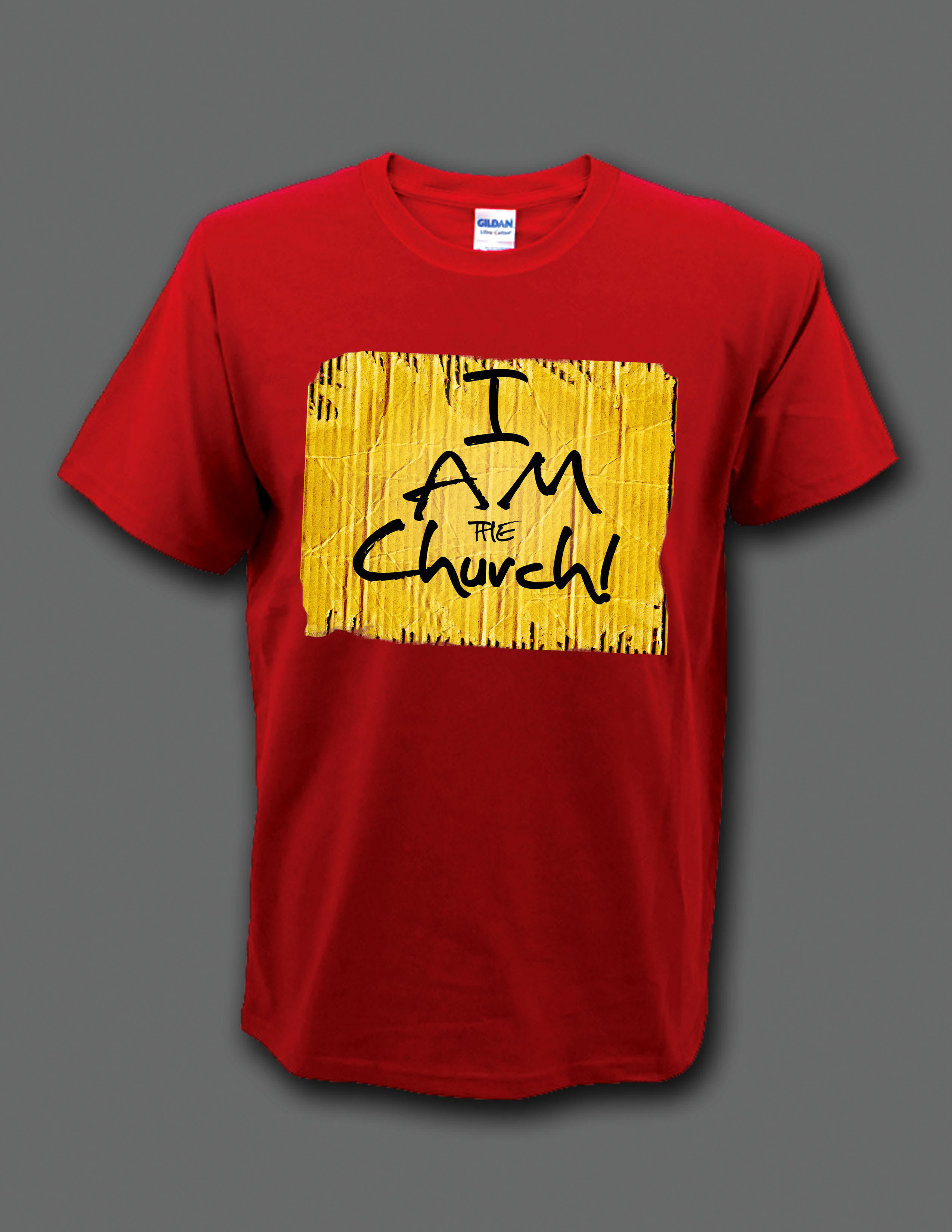 "Red ""I Am the Church"" t-shirt 00004"