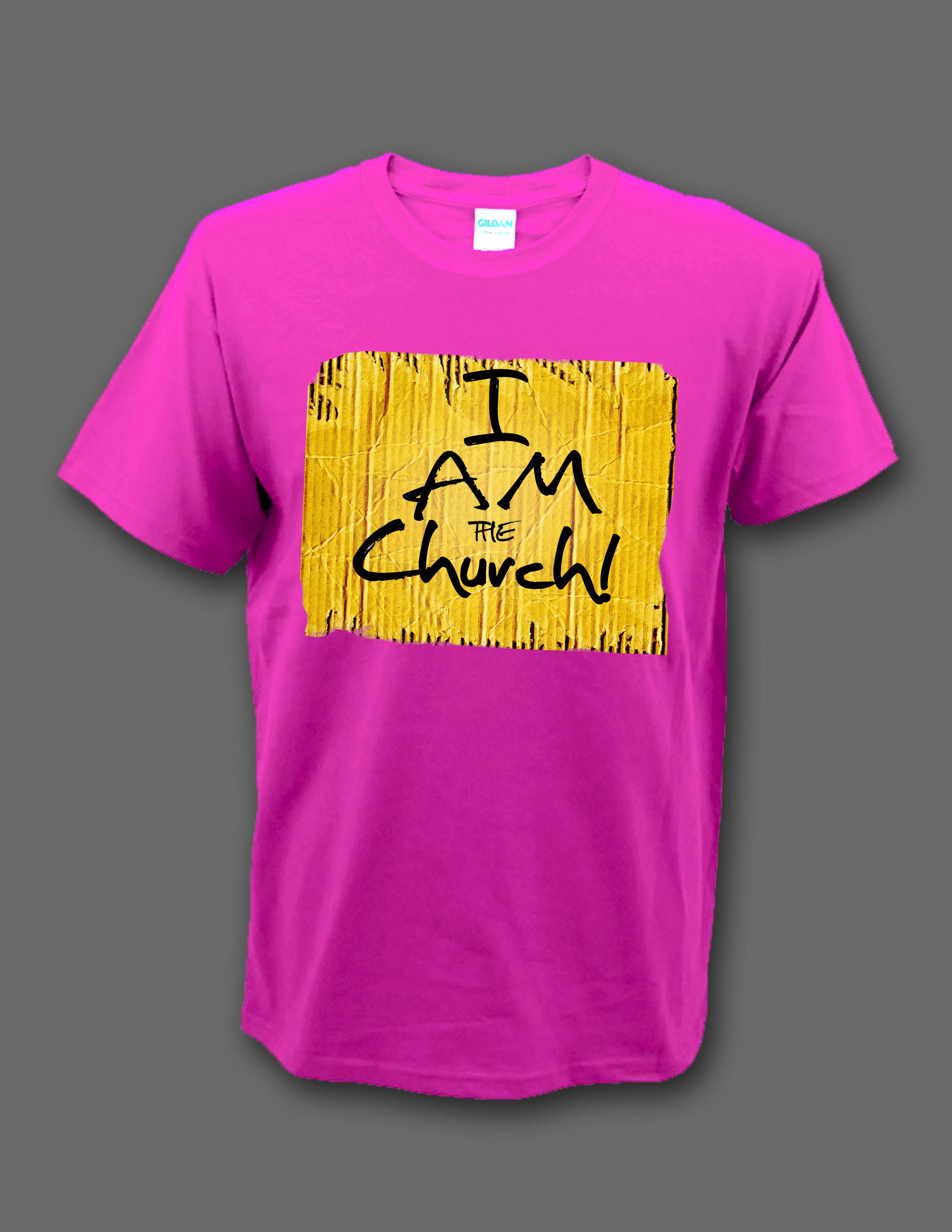 "Limited Edition Pink ""I Am the Church"" t-shirt 00003"