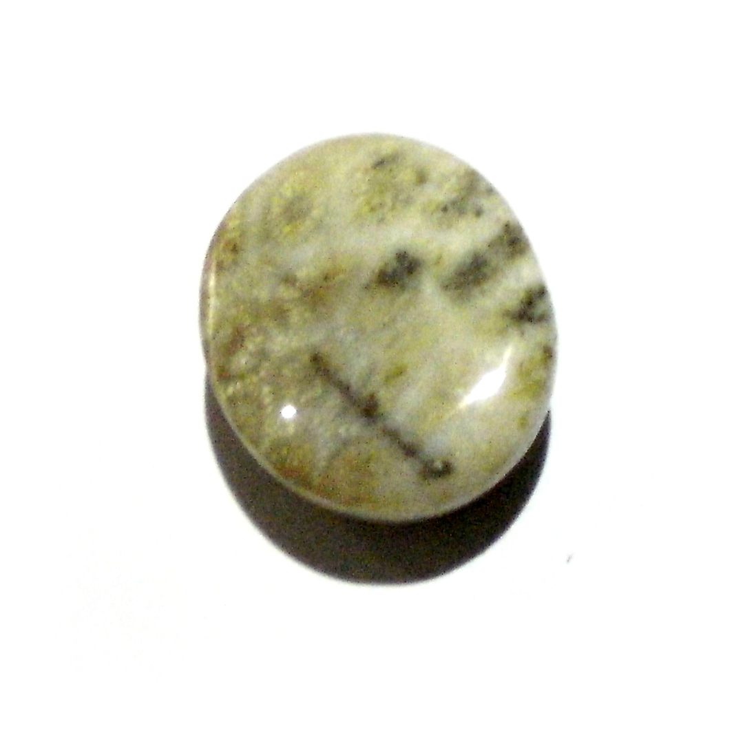 White bullet wood mustika gemstone