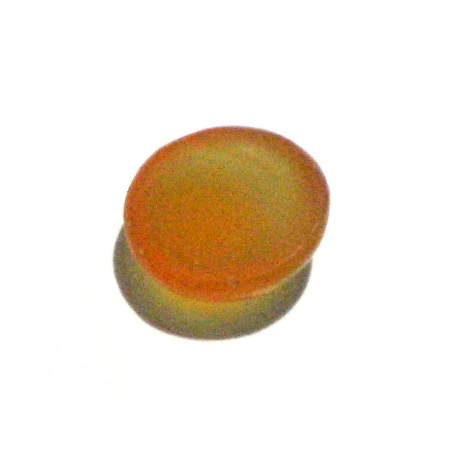 Base of orange mustika gemstone