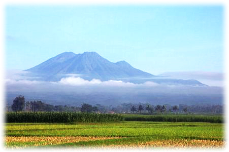 Mount Kawi in East Java, Indonesia