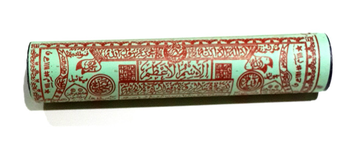 Large Magic Scroll stuffed with Sacred Earth, Herbs and Powders