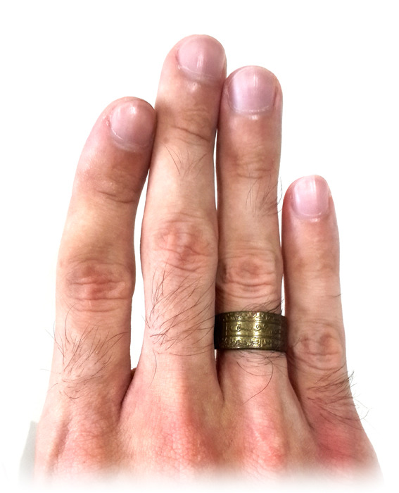 Mystical Ring made from Sacred Brass