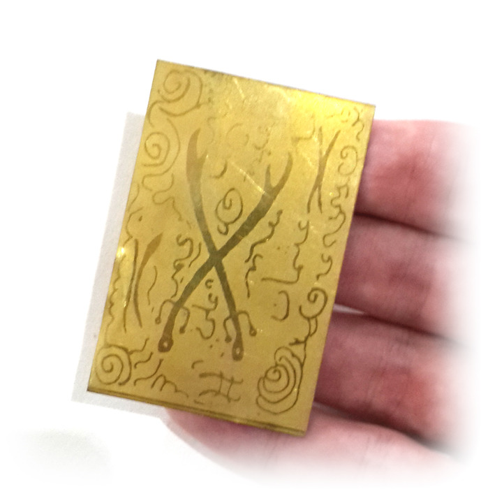 Close up of Lucky Gambling and Lottery Winning Amulet