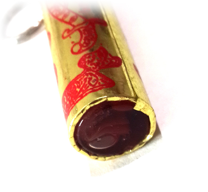Magic Scroll with Sacred Inserts in Saffron Oil