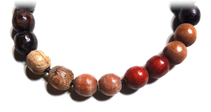 Holy wooden prayer beads bracelet