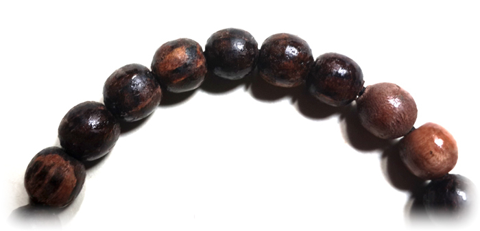Magic Prayer Beads Bracelet made from Various Types of Natural Holy Wood