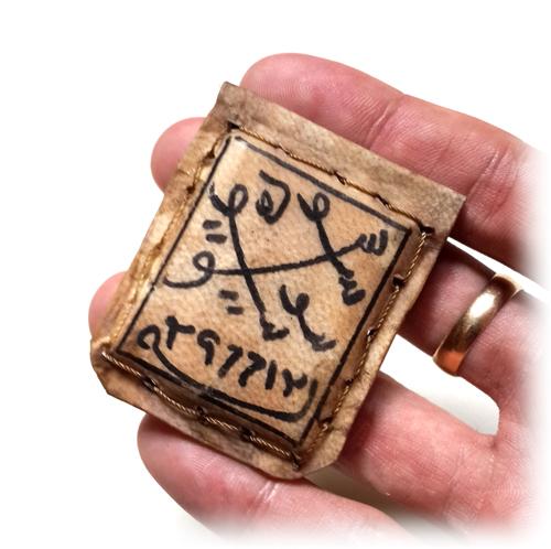 Solomonic Deer Skin Amulet