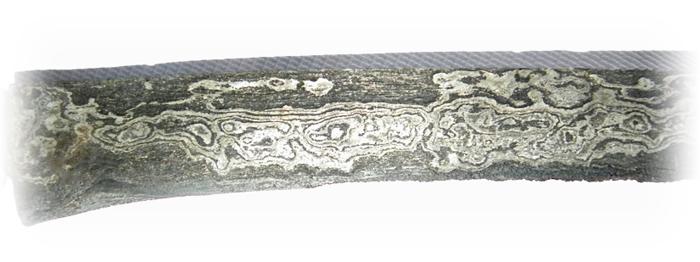 Pedang Suduk Maru with Pamor Wos Wutah