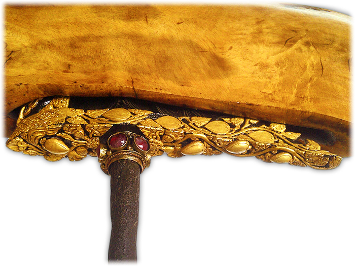 Balinese Keris with Kala Rao Dapur with Gold-plated Kinatah