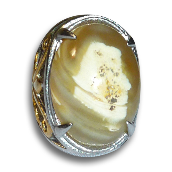 Agate Gem with Royal Pangeran Image Manifested in its Natural Veining