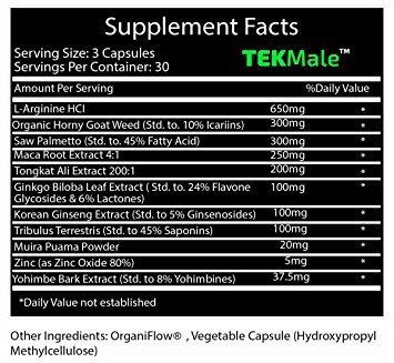 TekMale Male Enhancement Growth Pills