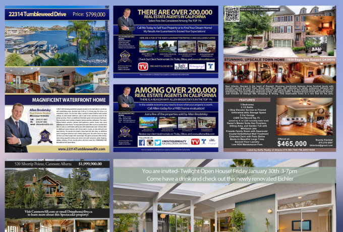 Beautiful Custom Real Estate Flyers