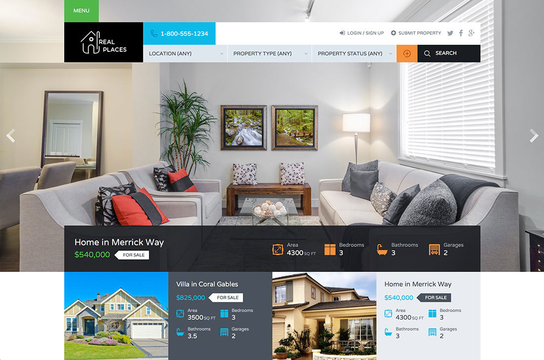 Fully Featured Websites for Real Estate Agents & Brokerage FFWEB
