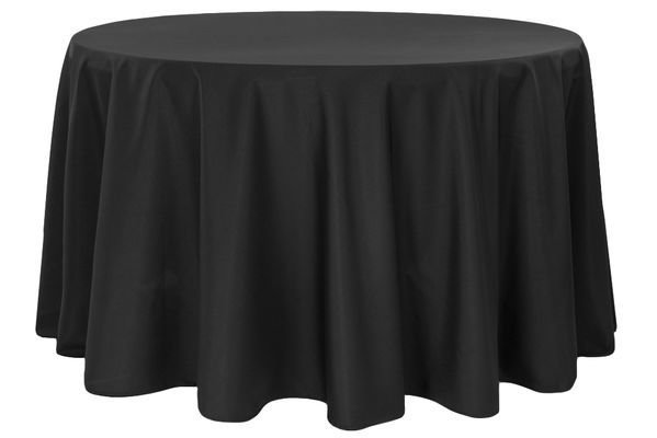Round Table Linens Black or white TBLN-001