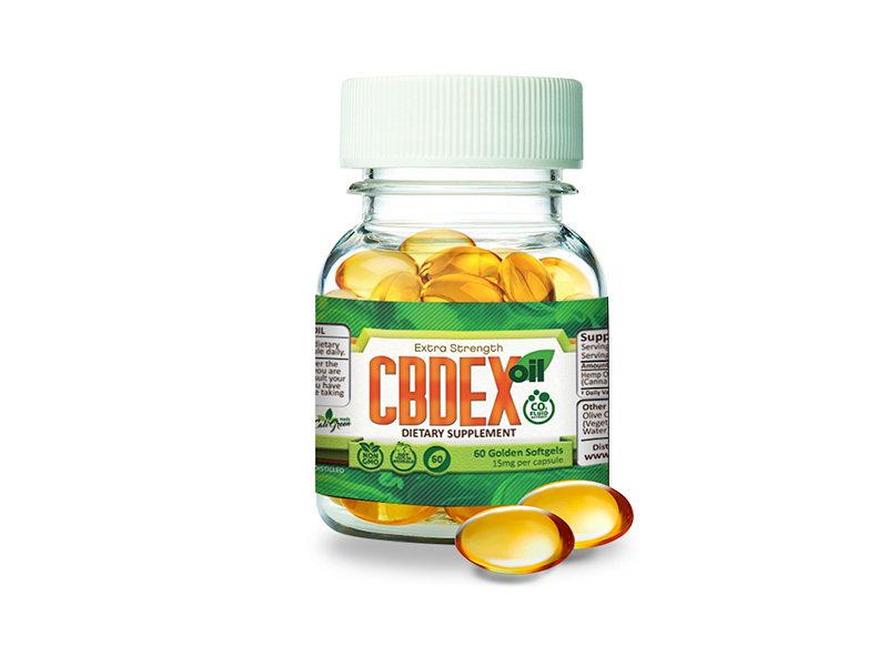 CBDEX 60 Golden Softgel 15mg 00005