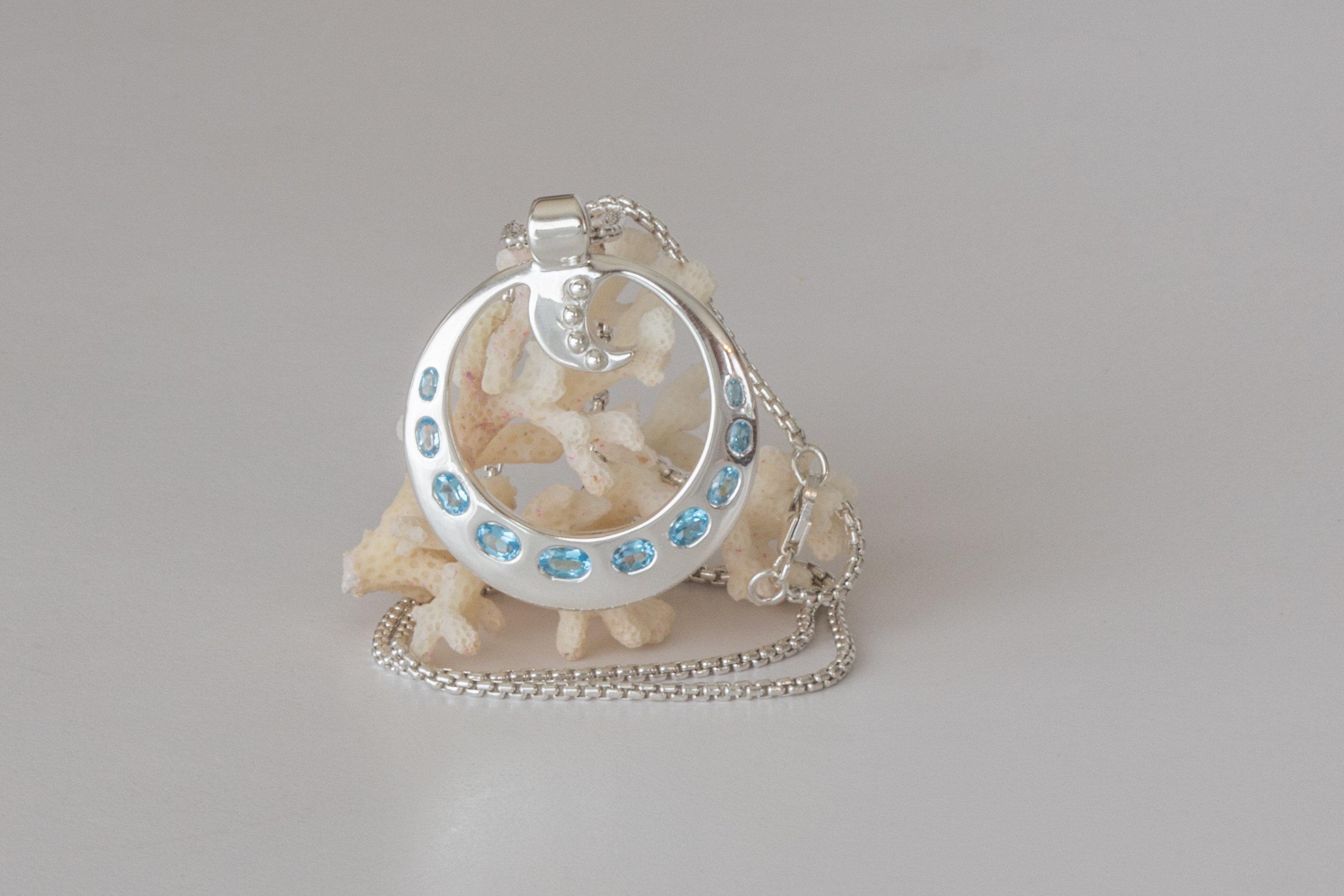 With gemstones