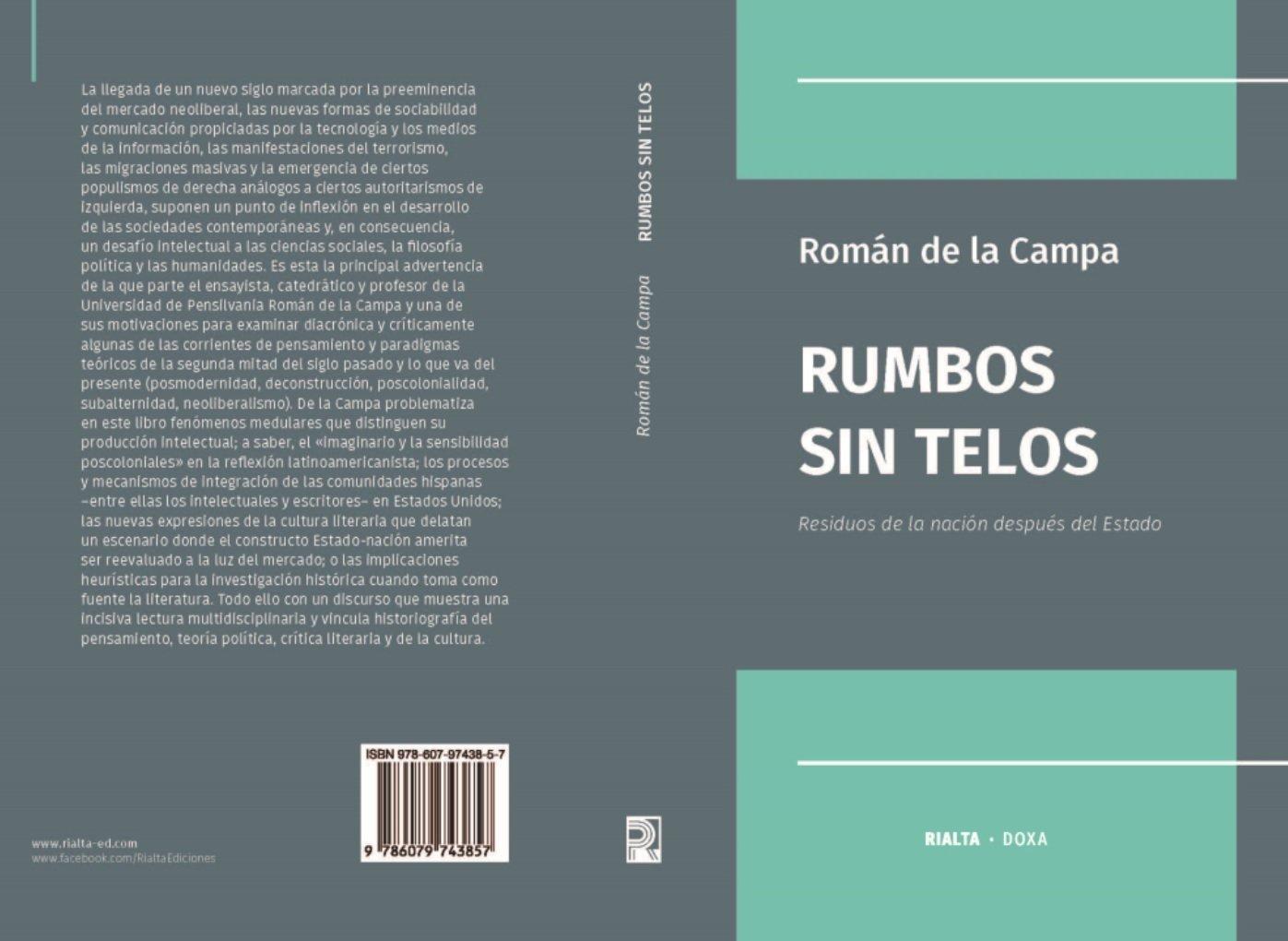 Cubierta Rumbos sin Telos (pliego)