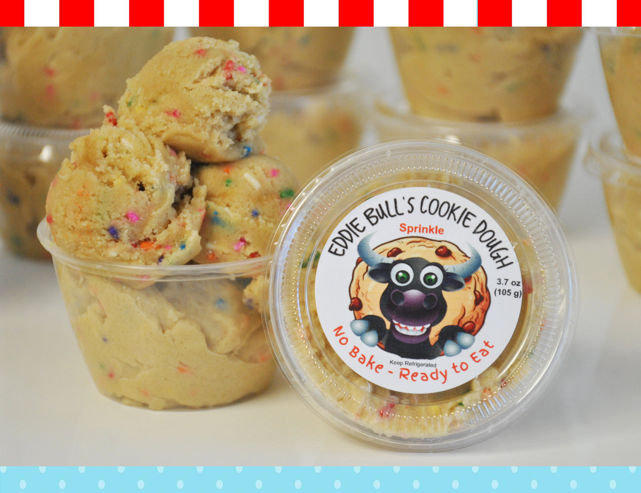 2 Pack Eddie Bulls Cookie Dough (2 - 32 ounce containers) 2pack